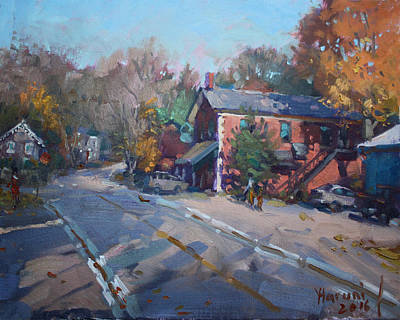 Autumn Landscape Painting - Copper Kettle Pub In Glen Williams On by Ylli Haruni