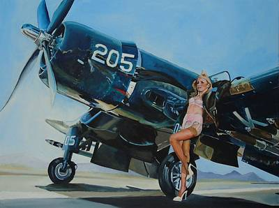 Corsair Fighter Painting - Cor Sarah by Terence R Rogers