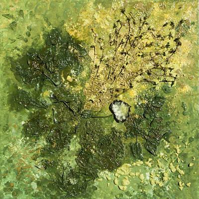 Abstract Movement Mixed Media - Cor Viride - Green Heart by Sora Neva