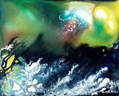 Angel Mermaids Ocean Painting - Coral Reef Of The Pacific Angel by Lee Pantas