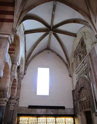 Cordoba Ancient High Ceiling Church Spain Print by John Shiron