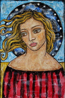 Christian Art . Devotional Art Painting - Corine by Rain Ririn