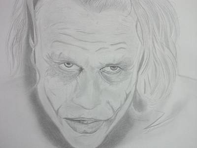 Heath Ledger Drawing - Coringa Heath Ledger by Fabricius Espindola