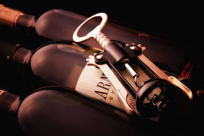 Wine Bottle Photograph - Corkscrew by Tom Mc Nemar