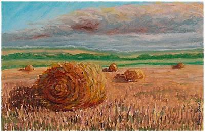 Corn Rolls Print by Mona Davis