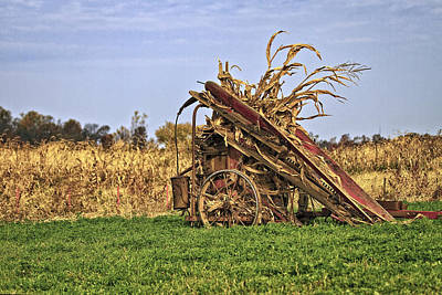 Amish Photograph - Corn Stalk Baler by Marcia Colelli