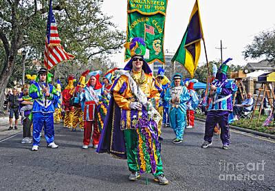 Corner Club 3 -mardi Gras New Orleans Print by Kathleen K Parker
