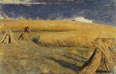 Cornfield Painting - Cornfield At Ewell by William Holman Hunt