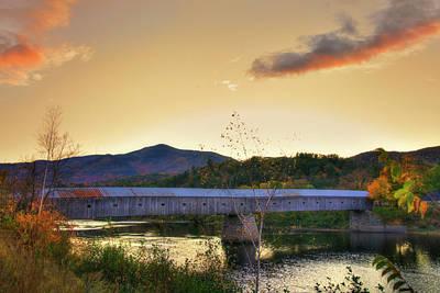 New Hampshire Photograph - Cornish Windsor Covered Bridge In Autumn by Joann Vitali