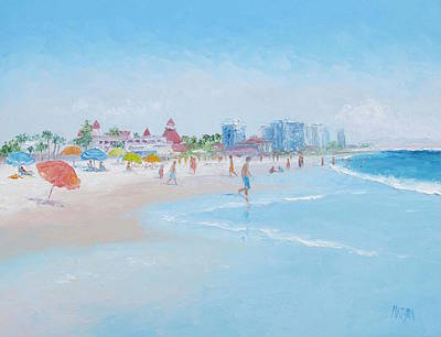 Hotel Del Coronado Painting - Coronado Beach San Diego by Jan Matson