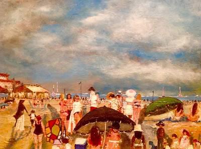Sand Castles Painting - Coronado Beach by Yolanda Terrell