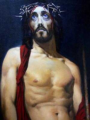 Jesus Christ Icon Painting - Coronation B by Valeriy Mavlo
