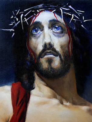 Jesus Christ Icon Painting - Coronation C by Valeriy Mavlo