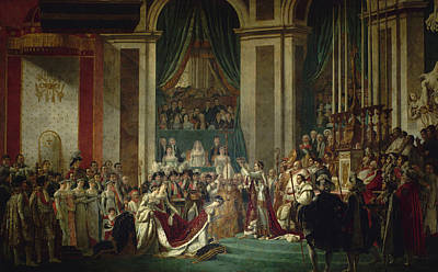 Coronation Of Emperor Napoleon I And Coronation Of The Empress Josephine In Notre-dame De Paris, Dec Print by Jacques-Louis David