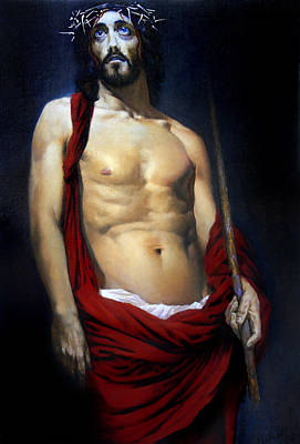 Jesus Christ Icon Painting - Coronation by Valeriy Mavlo