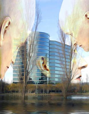 Corporate Cloning Print by Kurt Van Wagner