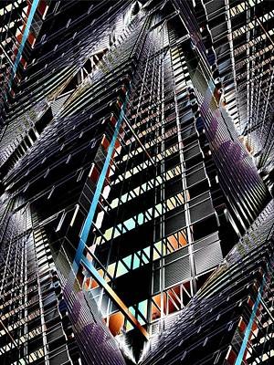 Black Commerce Digital Art - Corporate Ladder by Tim Allen