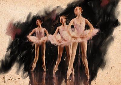 Corps De Ballet Print by H James Hoff