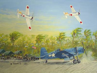 Corsair Fighter Painting - Corsair At The Ready by Dennis D Vebert