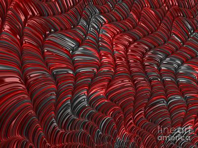 Artistic Digital Art - Cortex In Red by John Edwards