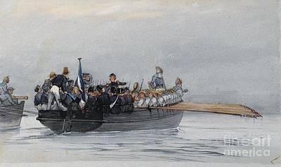 Command Painting - Corvette Captain Commanding The Creole by Celestial Images