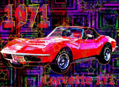 Corvette Lt1 Print by Maria Arango