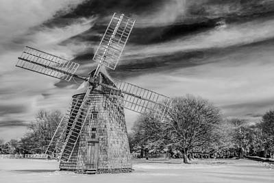 Corwith Windmill Long Island Ny Print by Susan Candelario