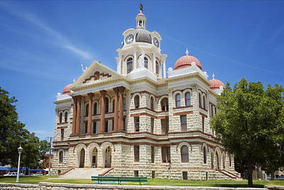 Corinthians Photograph - Coryell County Courthouse by Joan Carroll