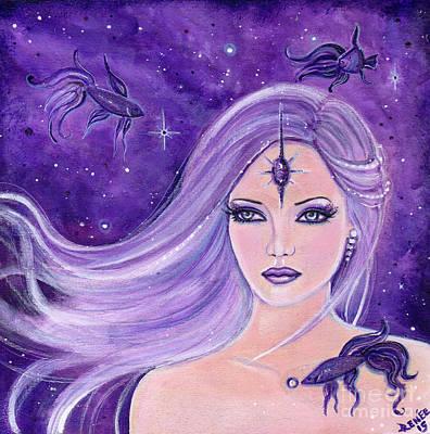 Cosmic Bettas Print by Renee Lavoie