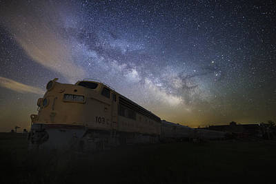Old Trains Photograph - Cosmic Express by Aaron J Groen