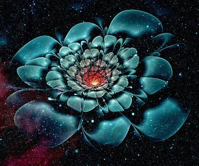 Cosmic Space Mixed Media - Cosmic Flower by Anastasiya Malakhova