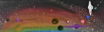 Cosmic Play Print by Susy Guzman