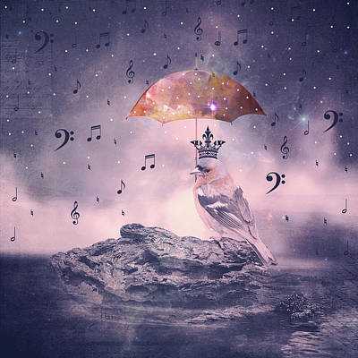Cosmic Rain Print by Suzanne Carter