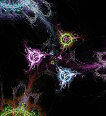 Cosmic Symbols Print by Shawn Dall
