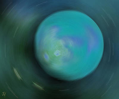Planetoid Mixed Media - Cosmic Time Lapse by Kathy Franklin