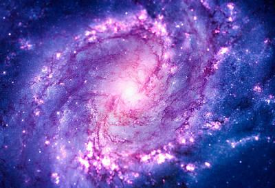 Enterprise Digital Art - Cosmic Vacuum Cleaner Spiral Galaxy M83 by Philipp Rietz