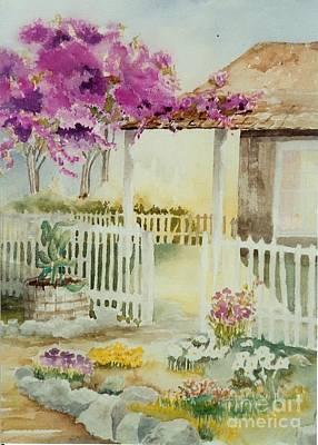 Maryann Painting - Cottage Garden by Maryann Schigur