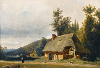 Painting - Cottage In The Countryside 1 by Louis-Auguste Lapito