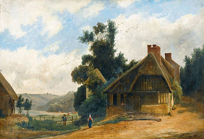 Painting - Cottage In The Countryside 2 by Louis-Auguste Lapito