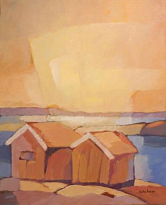 Cottages Seascape Original by Lutz Baar