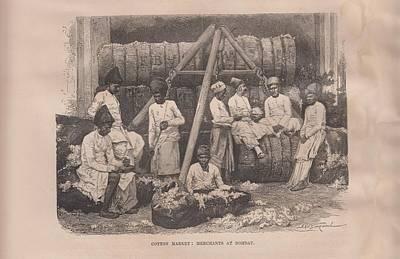 Cotton Market Merchants - Bombay 2 Original by Angela Lautin