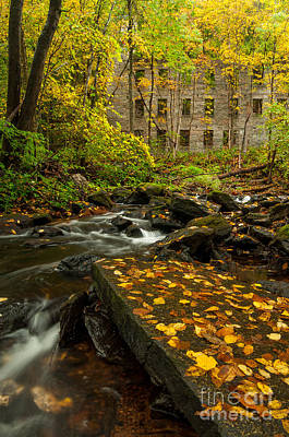 Connecticut Photograph - Cotton Mill Memories - Mill Ruins On Woodland Brook by JG Coleman