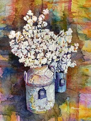 Cotton Stalks Print by Hailey E Herrera