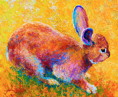Hare Painting - Cottontail II by Marion Rose
