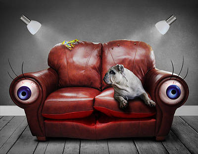 Adorable Digital Art - Couch Potatoes  by Mountain Dreams