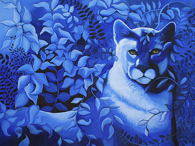 Jungle Cat Painting - Cougar by Bonnie Kelso