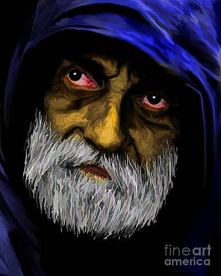 Hoodie Digital Art - Could You Please Help by JohnD Smith