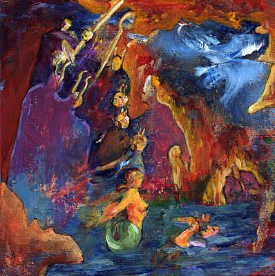 Minotaur Painting - Council by David Matthews