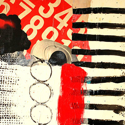 Dots And Lines Mixed Media - Countdown by Nancy Merkle