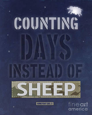 Counting Days Instead Of Sheep Print by Gaby Juergens